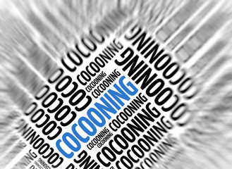 Modern marketing background - Cocooning