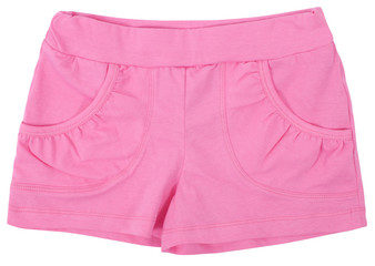 Woman's sports shorts. Isolated on a white background