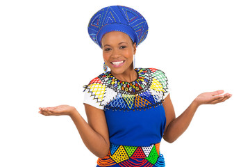young south african woman in traditional clothes