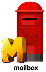 A letter M for mailbox