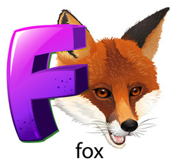A letter F for fox