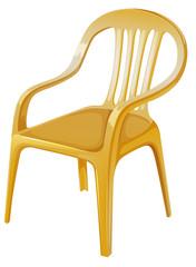 An orange chair