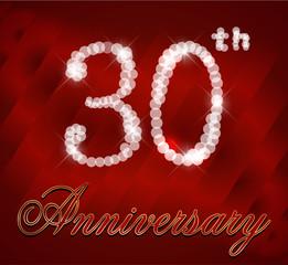 30 year happy birthday card, 30th anniversary sparkles
