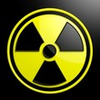 canvas print picture - Nuclear warning sign background