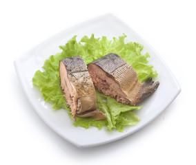Smoked hunchback salmon