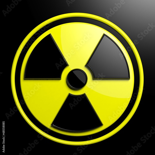 canvas print picture Nuclear warning sign background
