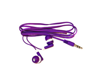 Small Headphones purple isolated on white background