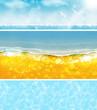 Banner spiaggia, mare estate