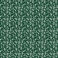 Seamless pattern with numbers for school design. Abstract