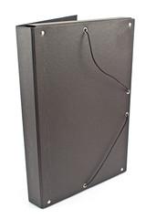 Cardboard portfolio folder isolated on a white