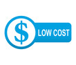 Etiqueta tipo app azul alargada LOW COST