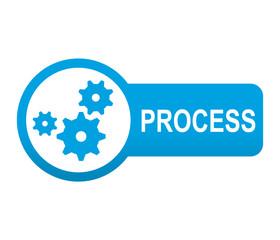 Etiqueta tipo app azul alargada PROCESS