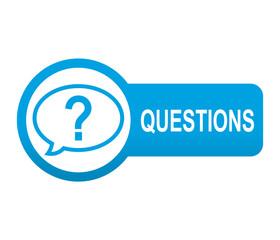 Etiqueta tipo app azul alargada QUESTIONS