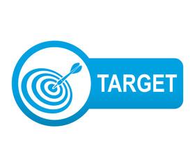 Etiqueta tipo app azul alargada TARGET