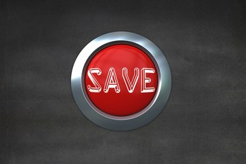 Save on digitally generated red push button