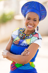 young south african zulu woman portrait outdoors