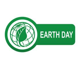 Etiqueta tipo app verde alargada EARTH DAY