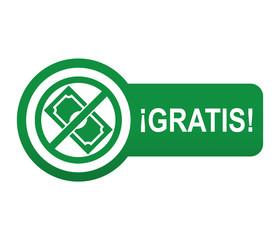 Etiqueta tipo app verde alargada GRATIS