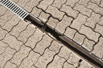 Drainage - Entwässerungssystem - Drainagerinne - reparaturbedarf