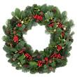 canvas print picture - Winter Wreath