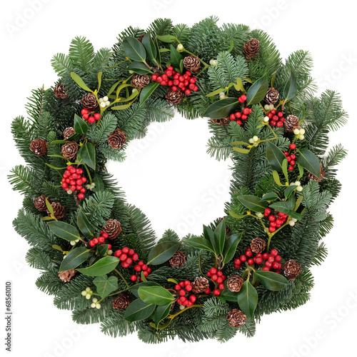 canvas print picture Winter Wreath