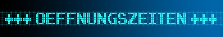 Website Banner - Oeffnungszeiten - Format 6 zu 1 - g977