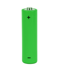 green battery with positive and negative signs