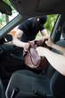 Burglar takes woman's bag