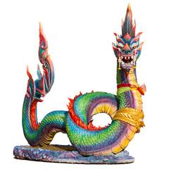 Naga (Giant snake) isolated on white background