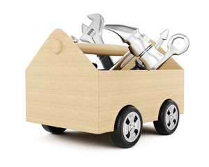 Toolbox with wheels