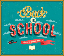 Back to school typographic design.
