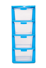 Storage office plastic box on isolated white background