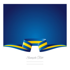Abstract background Swedish flag ribbon