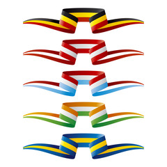 Abstract Europe flags ribbon