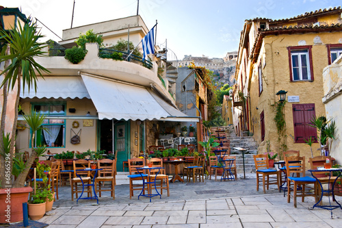 Fotobehang Athene The scenic cafe