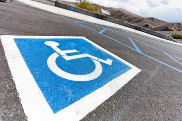 Parcheggio riservato per disabili