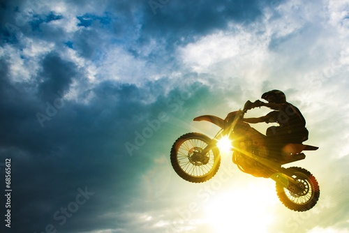 Motocross Bike Jump - 68565612