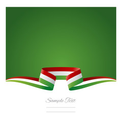 Abstract background Hungarian flag ribbon