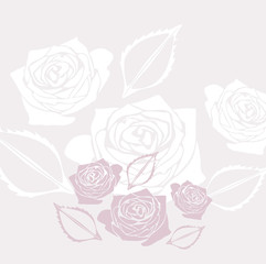 Decorative background with stylized roses