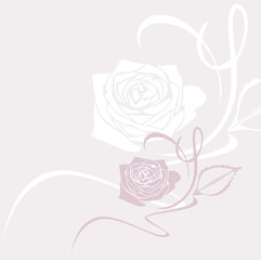 Decorative background with stylized rose