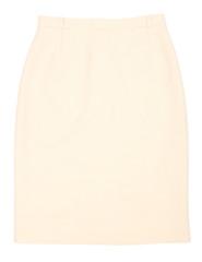Female skirt isolated on white