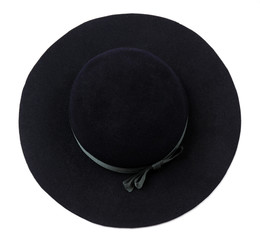 Elegant hat isolated on white