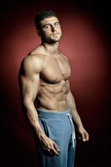 athletic young man portrait