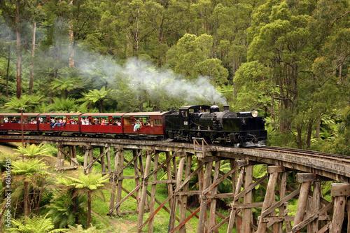 Puffing Billy, old steam train in Australia