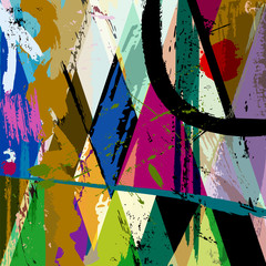 abstract background illustration, composition with paint strokes