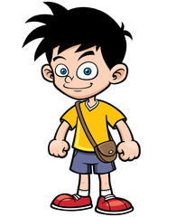 Vector illustration of Cartoon boy