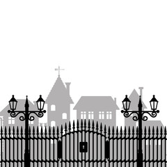 Vector illustration. Fence.