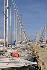 Marina of Saint-Cyprien in France
