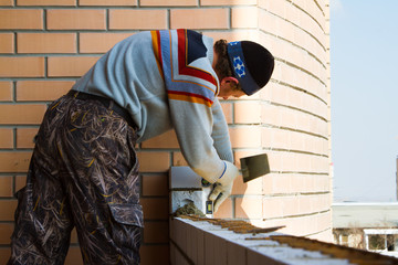 Bricklayer - Stock Image