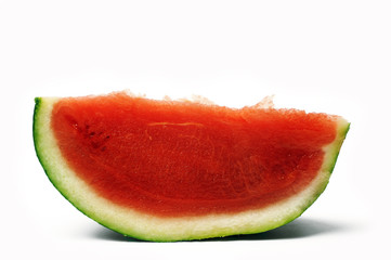 slice of watermelon isolated on white background in studio